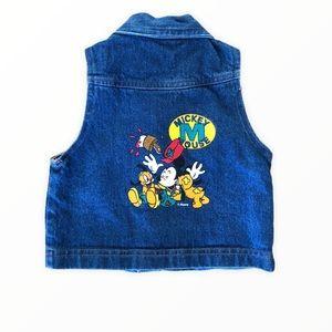Vintage Disney Jean Vest